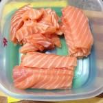 salmão cortado