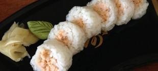 Sushi com folha de arroz